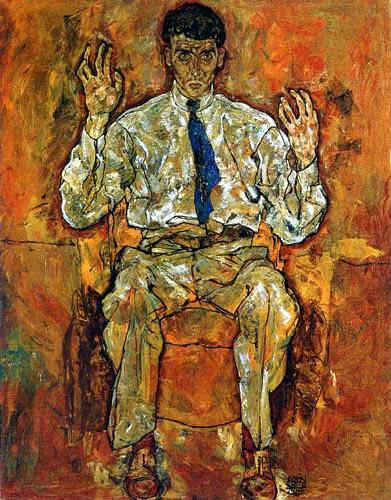 Egon Schiele - Portrait of the painter Paris von Guetersloh