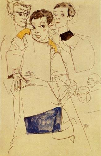 Egon Schiele - Triple Self-Portrait