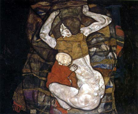 Egon Schiele - A young mother