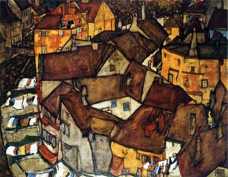 Egon Schiele - The small town V