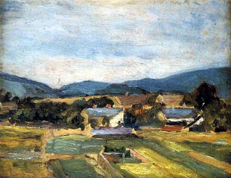 Egon Schiele - Landscape in Austria