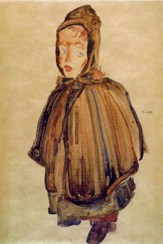 Egon Schiele - Girl with a hood