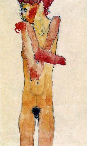 Egon Schiele - Nude, Gertrude Schiele