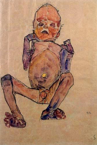 Egon Schiele - Neugeborener