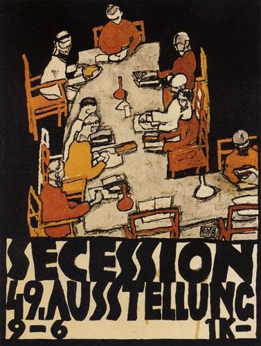 Egon Schiele - Secessionsplakat, Die Freunde