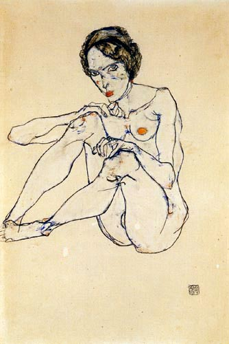 Egon Schiele - Nude