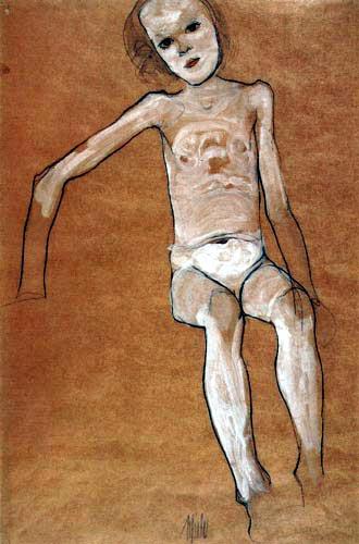 Egon Schiele - Naked Girl
