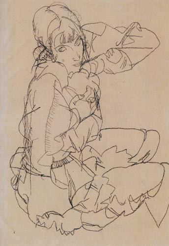 Egon Schiele - A seated woman