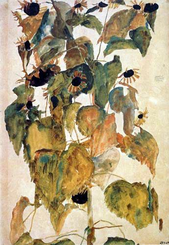 egon schiele flowers