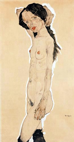 Egon Schiele - Nacked Girl