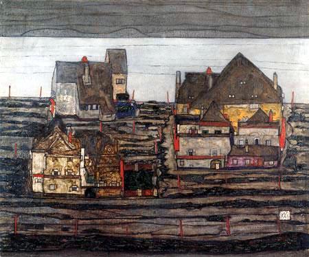 Egon Schiele - Suburbia I