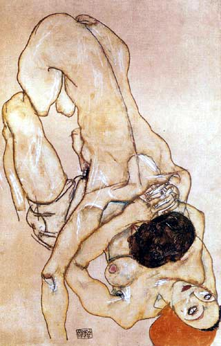 Egon Schiele - Two girls, a couple