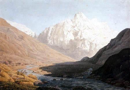 Johann Heinrich Schilbach - Finsteraarhorn im Berner Oberland