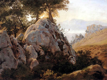 Johann Heinrich Schilbach - Rock study