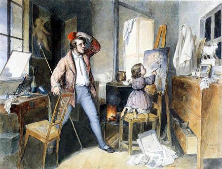 Albert Schindler - Painter and child