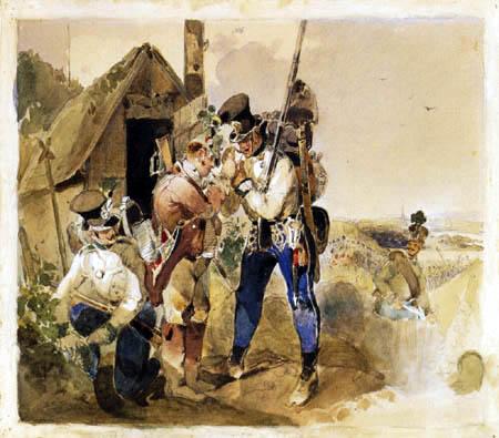 Carl Schindler - Military Scene