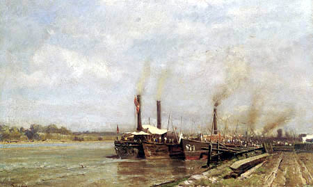 Emil Jakob Schindler - Danube steam ships