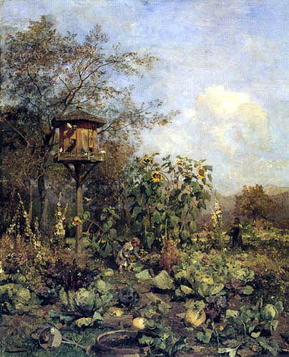 Emil Jakob Schindler - Vegetable garden in Goisern