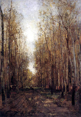 Emil Jakob Schindler - Forest track near Plankenberg in the autumn