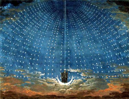 Karl Friedrich Schinkel - Ägyptischer Sternenhimmel- Theaterdekoration