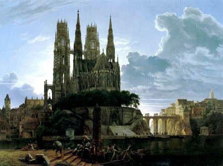 Karl Friedrich Schinkel - Cathédrale au-dessus d'une ville