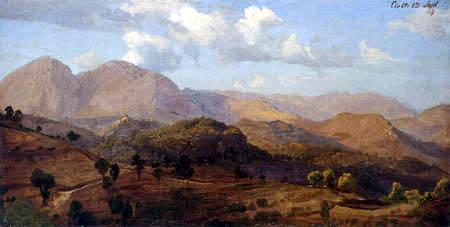Johann Wilhelm Schirmer - Blick auf Civitella mit den Marmellen