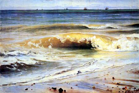 Johann Wilhelm Schirmer - Sea surf