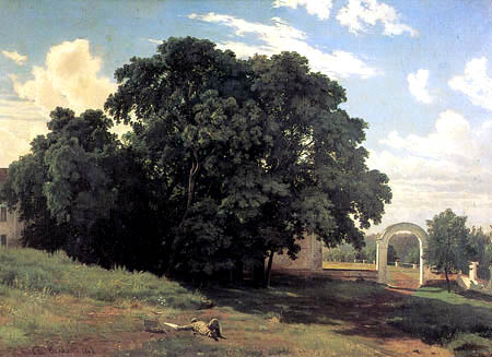 Iwan Schischkin - At the church fence in Walaam