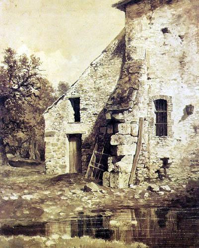 Iwan Schischkin - Old house at a pond