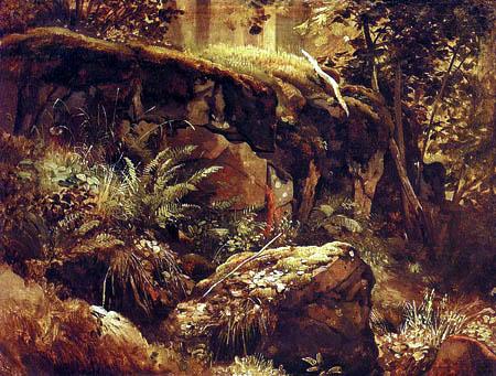 Iwan Schischkin - Pierres dans la forêt, Walaam