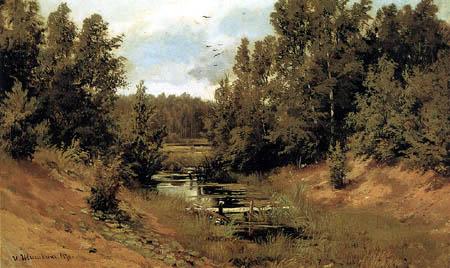 Iwan Schischkin - Ruisseau de forêt