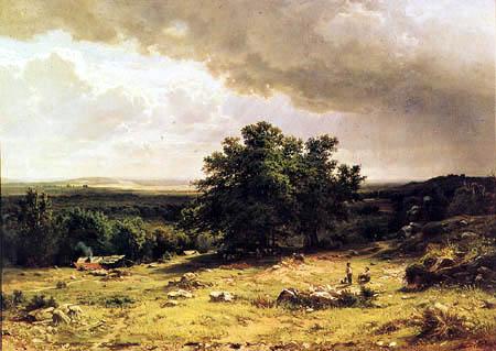 Iwan Schischkin - Paysage près de Duesseldorf