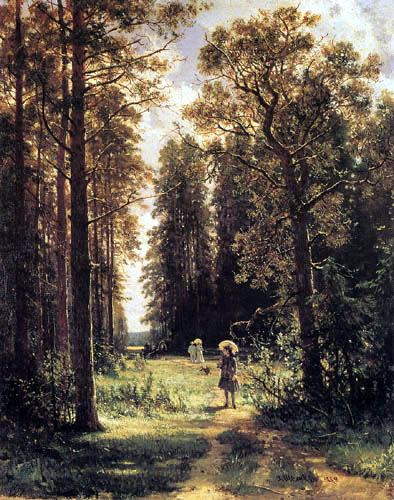 Iwan Schischkin - Way in the fir forest