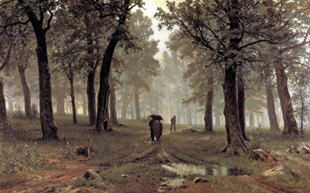 Iwan Schischkin - Rain in the oak forest