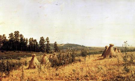 Iwan Iwanowitsch Schischkin - Getreidehocken in Polessje
