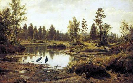 Iwan Schischkin - Uliginous landscape in Polessje
