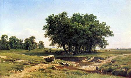 Iwan Schischkin - Young oaks