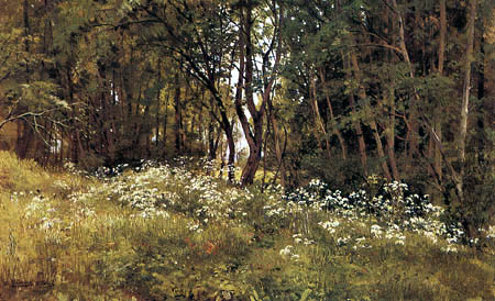 Iwan Schischkin - Flowers at the edge of forest