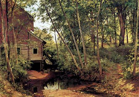 Iwan Schischkin - Forest mill in Preobrashenskoje