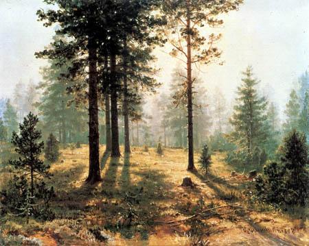 Iwan Schischkin - Niebla en el bosque