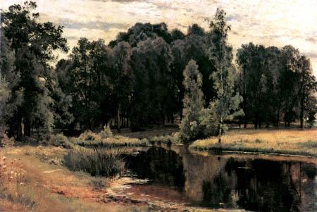Iwan Schischkin - Pond in an old park