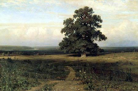 Iwan Schischkin - It stood on desert heath...