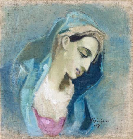 Helene Schjerfbeck - The Blue Madonna