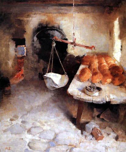 Helene Schjerfbeck - The bakery