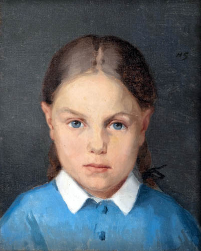 Helene Schjerfbeck - Girl with braids