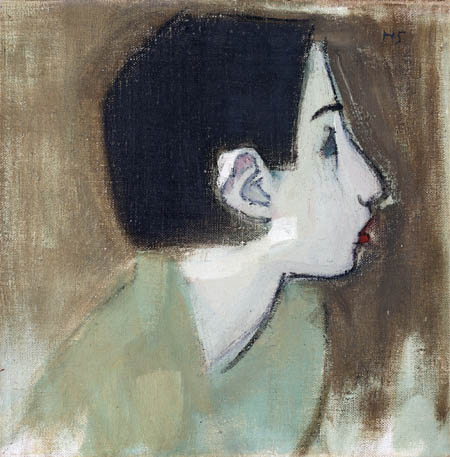 Helene Schjerfbeck - Girl in green sweater