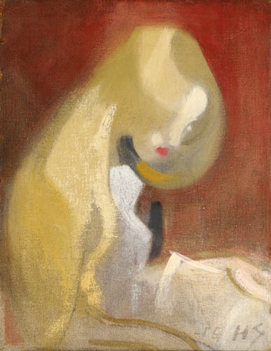 Helene Schjerfbeck - Girl with blond hair