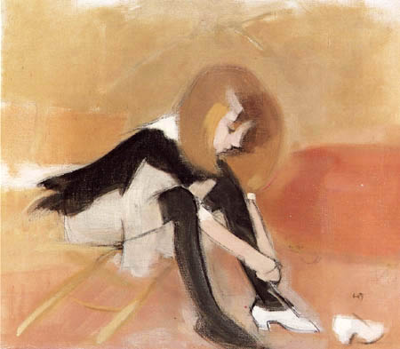 Helene Schjerfbeck - The Dancing Shoe