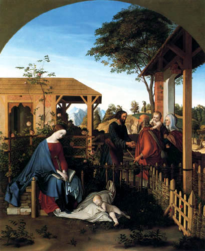 Julius Schnorr von Carolsfeld - John the Baptist and Christ