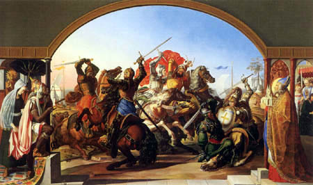 Julius Schnorr von Carolsfeld - The six-fight on the island Lipadusa
